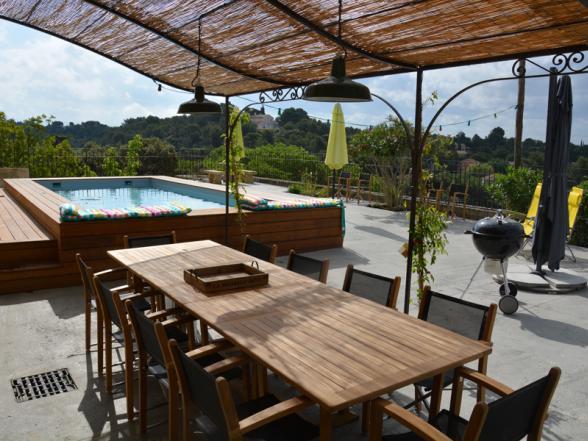 vakantiehuis met groot terras en zwembad huren Beaumes-de-Venise
