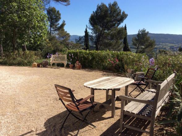 villa met grote tuin huren in Zuid-Frankrijk privacy en verwarmd privé zwembad