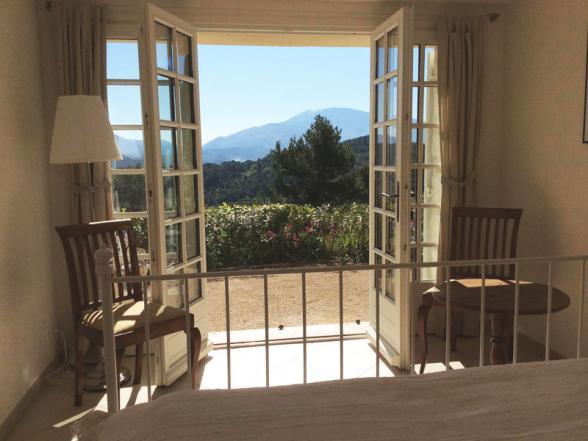 villa met zicht op de Ventoux huren in de Provence