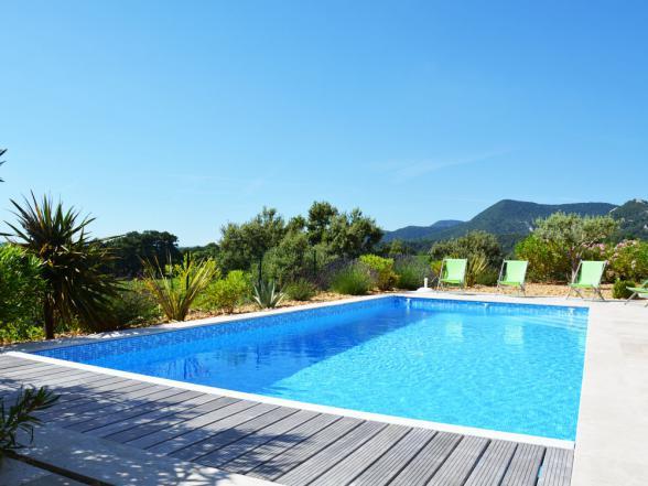 villa met verwarmd zwembad huren bij de Mont Ventoux