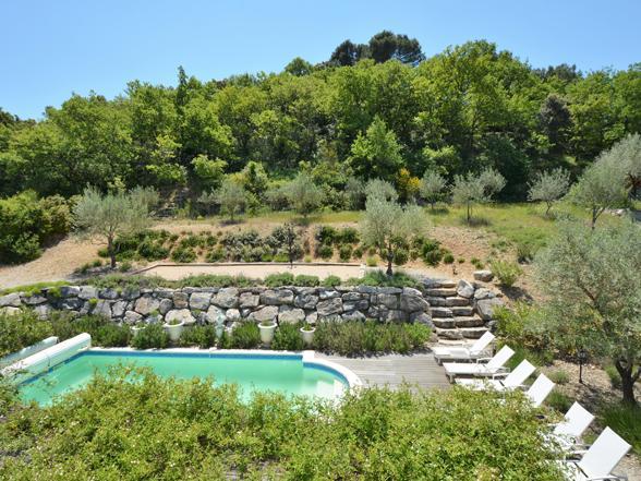 villa met verwarmd privé zwembad Buisson Vaucluse huren voor vakantie in de Provence aan de Mont Ventoux