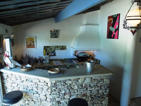 barbeque buitenkeuken vakantie huren Provence