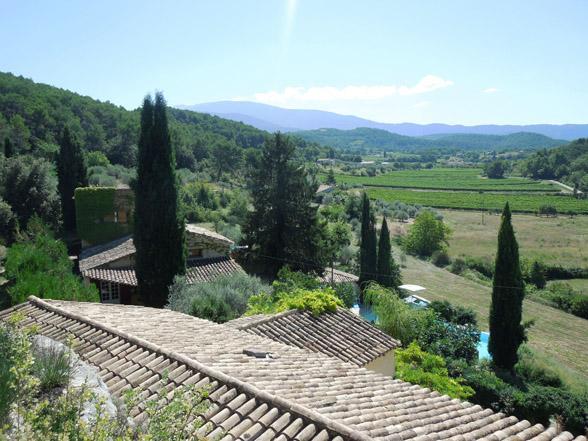 panorama zicht over de Vaucluse vakantie huis huren