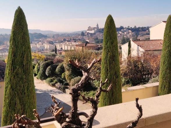 huis huren in Zuid-Frankrijk voor 12 personen met airco, zwembad en prachtig uitzicht over de wijngaarden