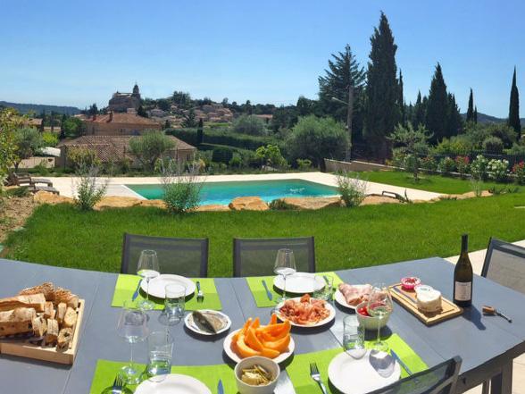 villa huren met zwembad en airco voor 8 personen vakantie Provence, Mont Ventoux, Bédoin