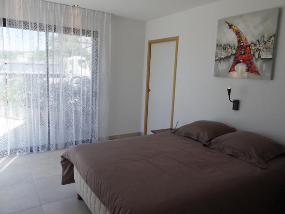 villa huren met 4 slaapkamers met airco en verwarmd zwembad in Bédoin