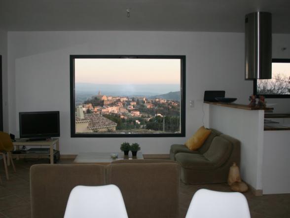 zithoek met zicht op Crillon en de Mont Ventoux