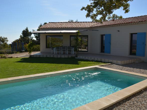 moderne villa met privé zwembad aan de voet van de Mont Ventoux huren
