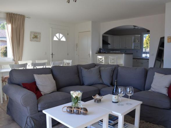 confortabele zithoek in dit vakantiehuis in de Vaucluse