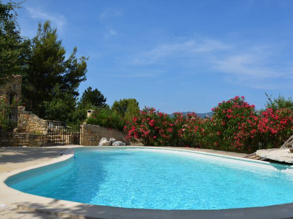vakantiehuis met zwembad huren zicht Ventoux