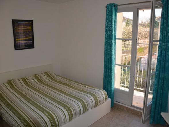 slaapkamer met terrasje