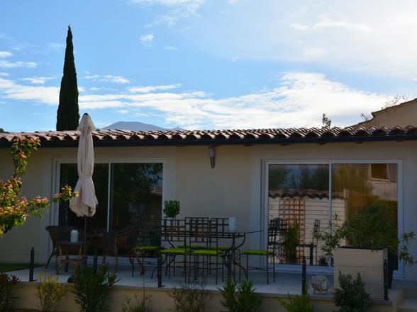 huis huren voor 2 personen in Zuid-Frankrijk met zicht op de Mont Ventoux en zwembad