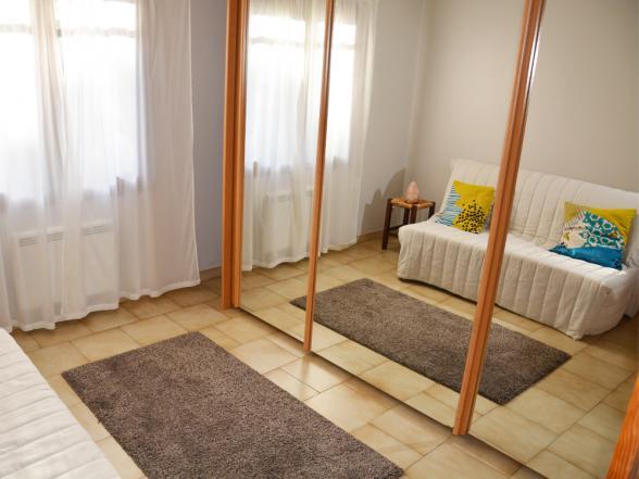 derde slaapkamer met een uitklapbaar zetelbed voor 2