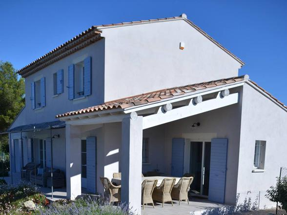 moderne villa huren voor 8 personen in de Provence  met zicht op de Ventoux