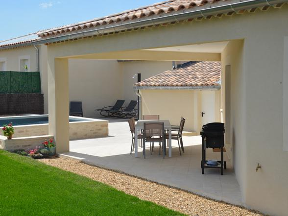 vakantie Provence nieuwe villa huren met privé zwembad en zicht op de Ventoux