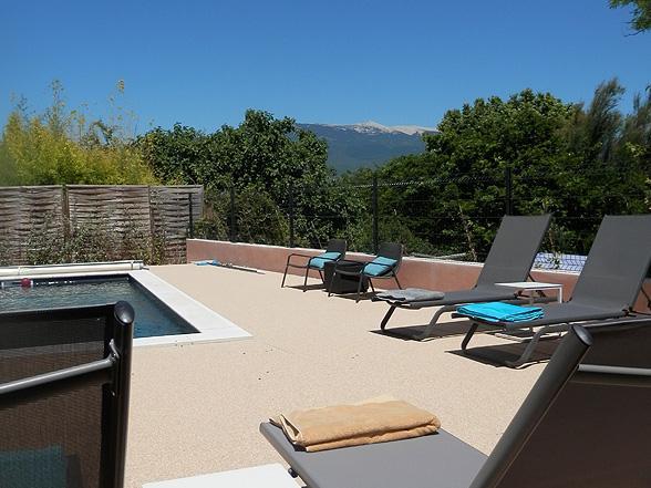 huisje met airco en verwarmd zwembad huren voor 6 personen voor vakantie in de Provence, op wandelafstand van het dorp, Vaison-la-Romaine met privé zwembad