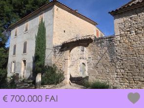 grote, te restaureren bastide kopen in de Provence met zeer grote tuin / park met zwemvijver