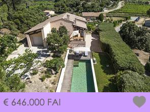 gerenoveerde villa kopen met verwarmd zwembad in de Provence, Zuid-Frankrijk