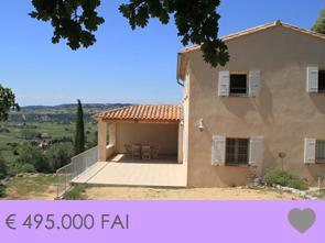 nieuwbouw villa met zwembad kopen in zuid-frankrijk, regio Provence, met prachtig uitzicht