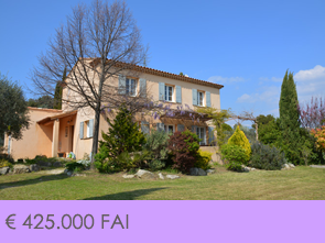 recent gebouwde villa kopen in de Provence met zwembad en zicht op de Mont Ventoux