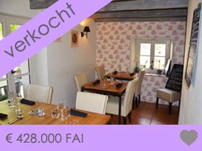 restaurant met appartement te koop in de Provence