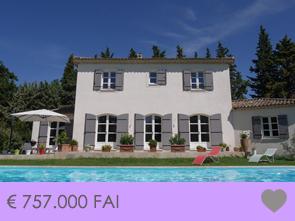 rustig gelegen, moderne Provençaalse bastide met zwembad te koop, Provence