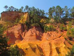 colorado provençal sentier des ocres okergroeve oker roussillon vakantiehuis huren in de provence ventoux immo